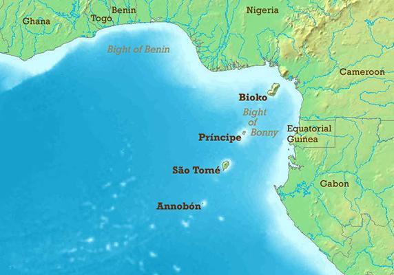 Где находятся гвинейский залив на карте